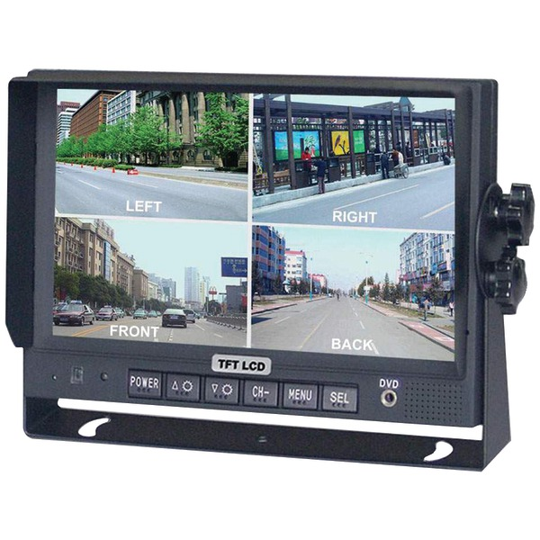 CRIMESTOPPER SV-8900.QM.II 7andquot; Color LCD Monitor with Built-in Quad View