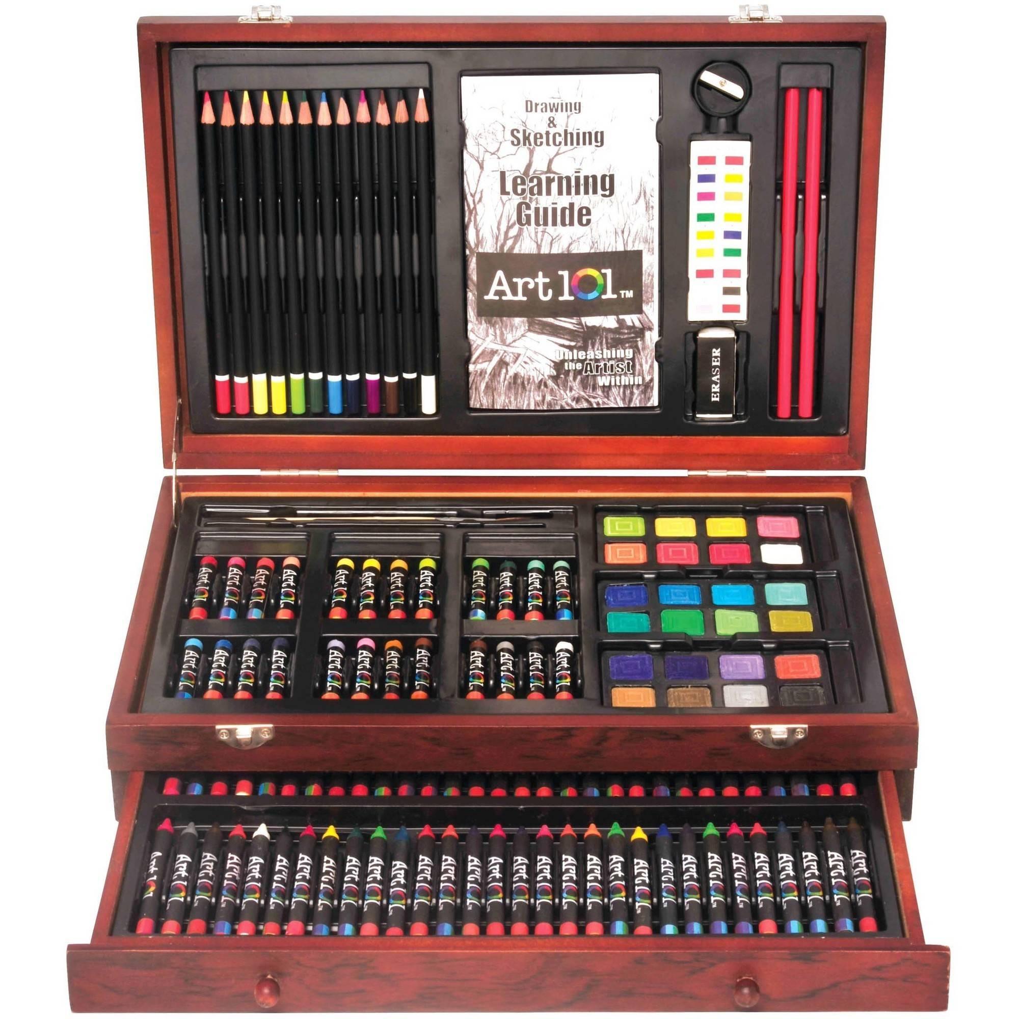 Art 101 Wooden Case 132-Piece Art Set