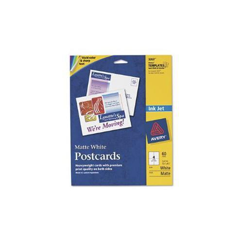 Personal Creations Inkjet Printable Postcards, Matte White, 4 1/4 x 5 1/2, 60/BX