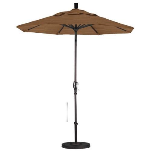 California Umbrella 7.5' Market Patio Umbrella in Terrace Sequoia