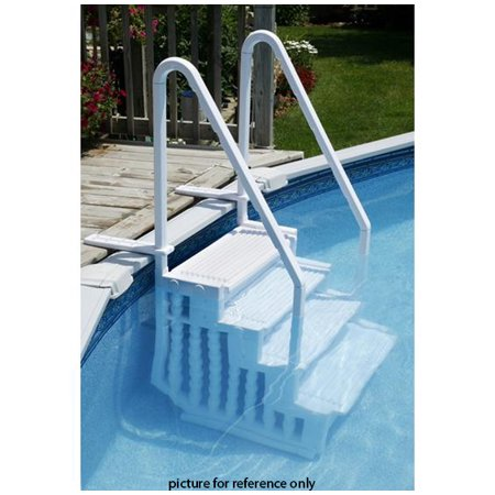 Xtremepowerus Aboveground Step Pool Ladder With Handle