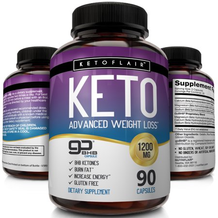 Nutriflair Keto Diet Pills 1200mg 90 Capsules Advanced Weight Loss Ketosis Supplement Bhb Salts Beta Hydroxybutyrate Ketogenic Fat Burner Carb