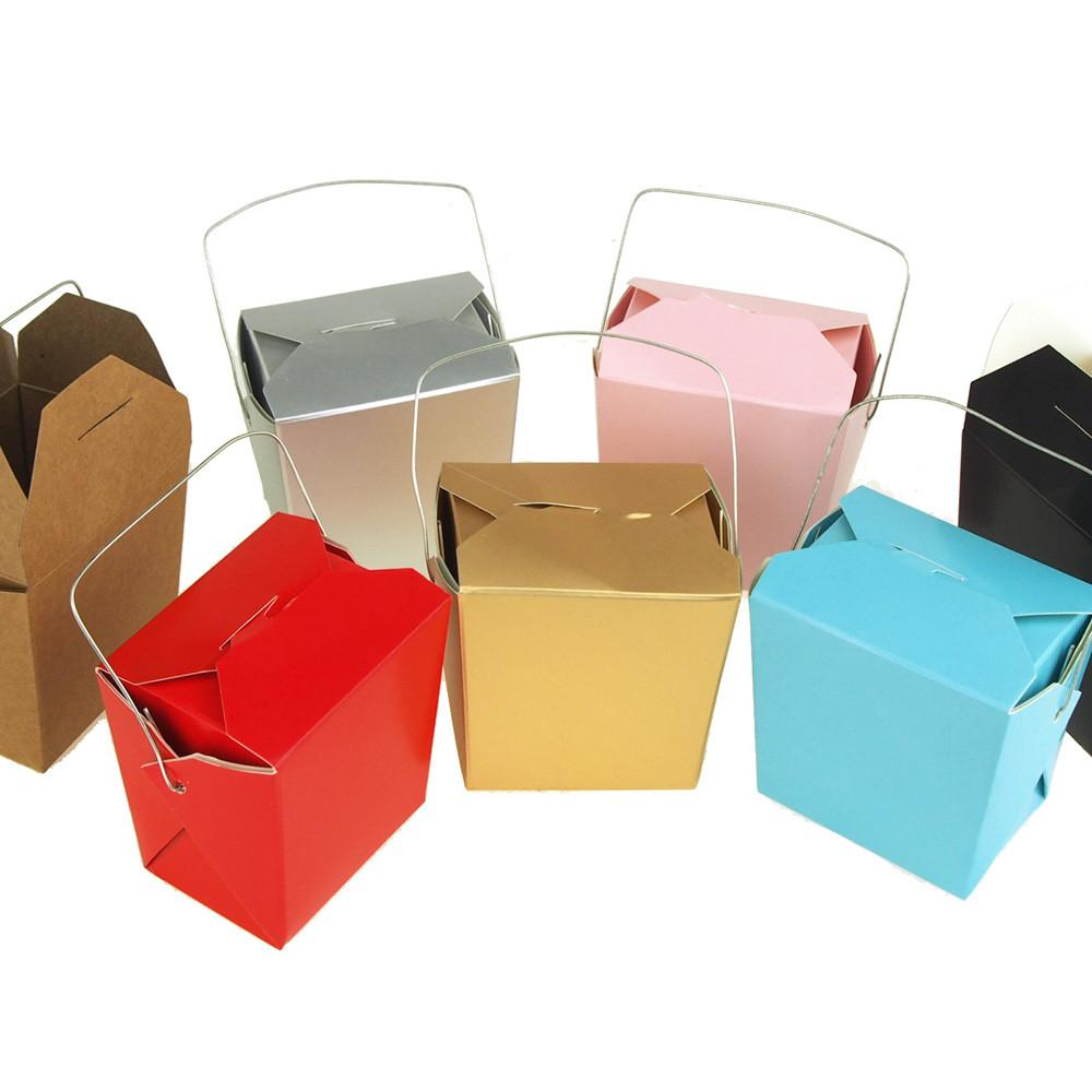 Take Out Boxes with Wire Handle, 2-1/2-Inch, 12-Piece