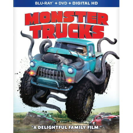 Monster Trucks Blu Ray Dvd Digital Copy Walmart Exclusive