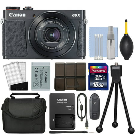 Canon PowerShot G9X Mark II Digital Camera 3x Optical Zoom Black + 16GB