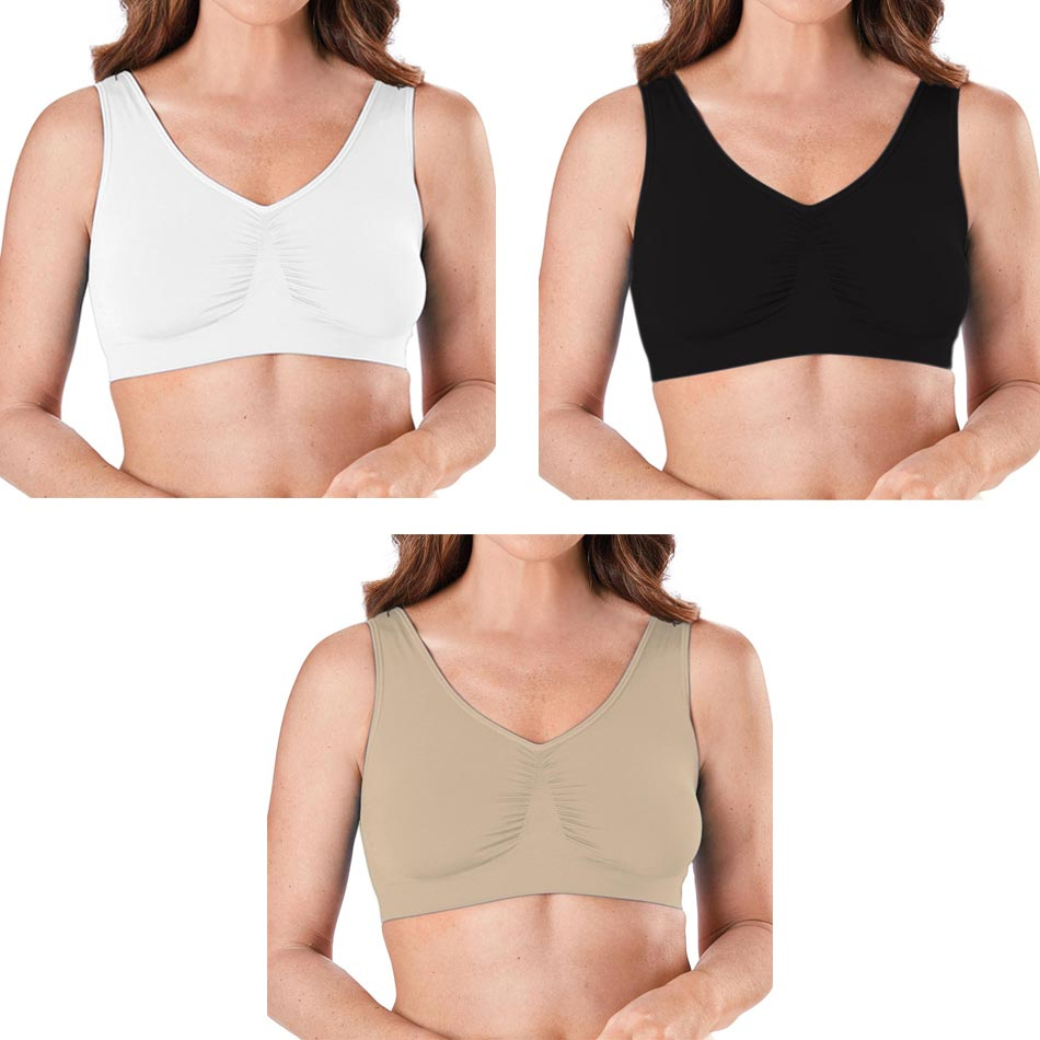 outlet shop online shop iSupportPosture - 3 Pack Plus Size Seamless Soft Cup Bra Pullover ...