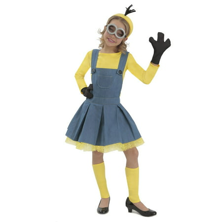 Minions™ Girl Jumper Halloween Costume - Girl Minion Halloween Costume