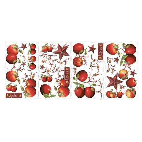 Country Apples Peel and Stick Wall Decals