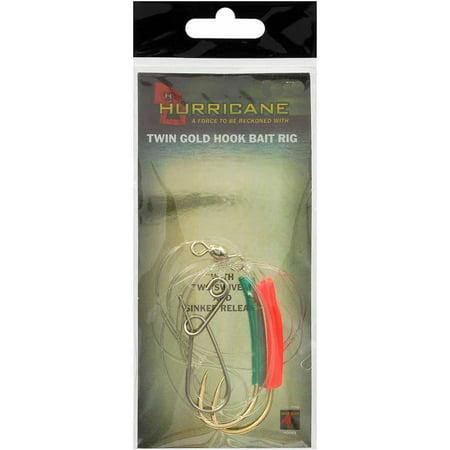 Hurricane Twin Gold Hook Cod Bait Rig