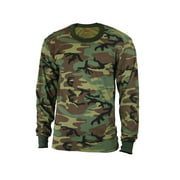 Boys Woodland Long Sleeve Camo Shirt - Size Large