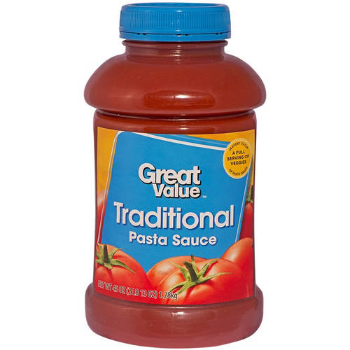 Great Value Traditional Pasta Sauce, 45 oz