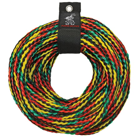 Airhead Tow Rope, Multicolor, 60 ft, 3-4 rider tubes (Pump Tow Rope)