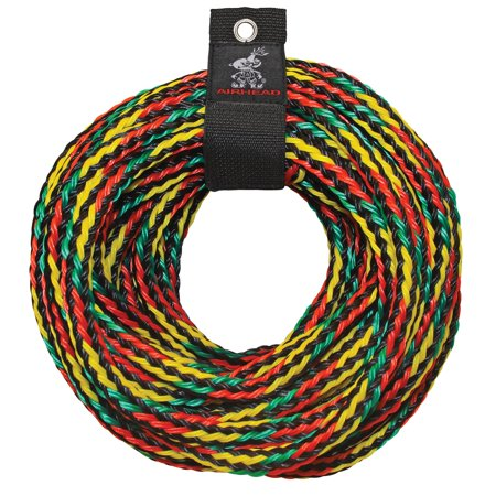 Airhead Tow Rope, Multicolor, 60 ft, 3-4 rider tubes ()
