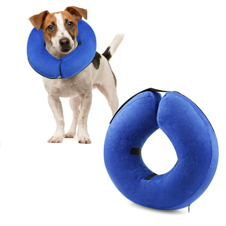 Protective Inflatable Collar for Dogs and Cats - Soft Pet Recovery Collar Does Not Block Vision E-Collar - image 1 de 7