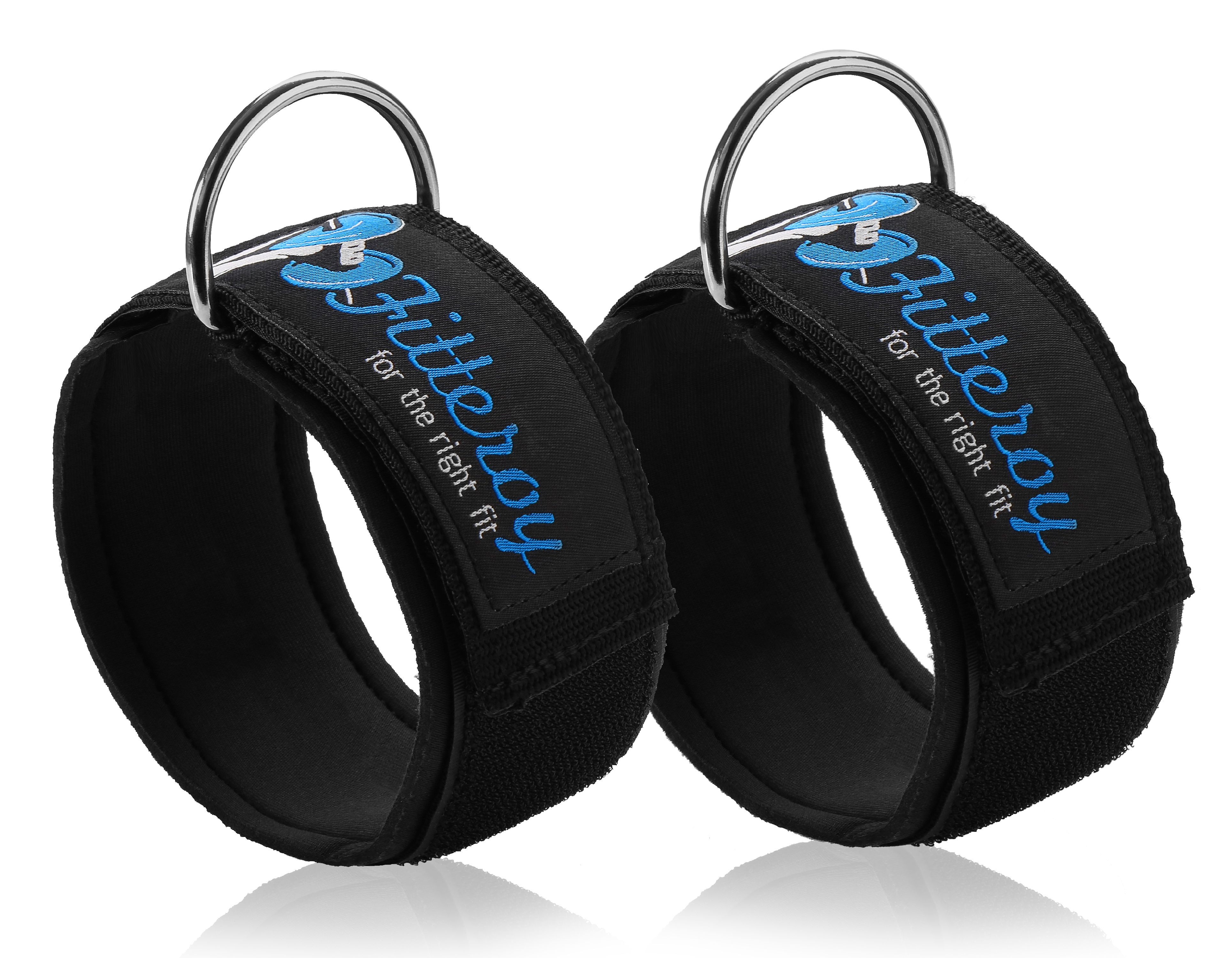 Fitteroy Ankle Straps for Cable Machine and Resistance Exercises (Pair) by Fitteroy Inc