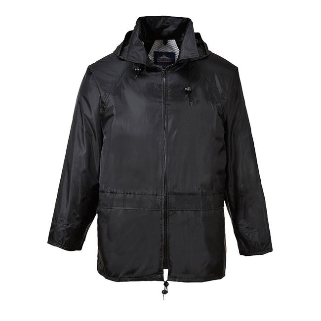 Portwest US440BKRL Classic Rain Jacket, Black, Large - image 1 of 1