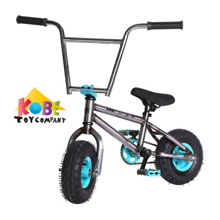 """Kobe """"Rusty Rat Rod"""" Mini BMX - Off-Road to Skate Park, Freestyle, Trick, Stunt Bicycle 10"""" Wheels for Adults and Kids - Blue - image 7 de 12"""
