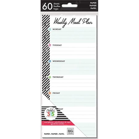 Me & My Big Ideas FIL-24 Happy Planner Medium Half Sheet Fill Paper 60/pkg Meal Planning, Multi, Plan your weekly meals efficiently using these sheets from.., By Me My Big Ideas