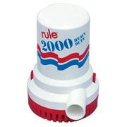 Rule 31494M RULE 2000 GPH NON AUTOMATIC  BILGE PUMP 12V