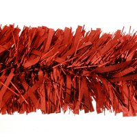 4PK X Red Luxury Deluxe Chunky Christmas Tinsel Garland Tree Decoration 120mm Width