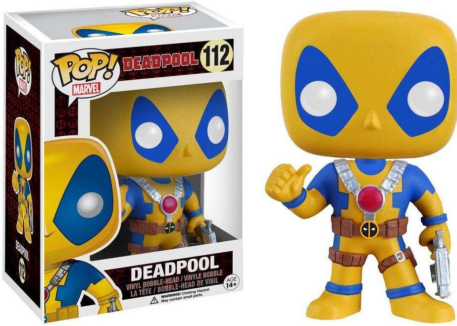 Marvel Vinyl Bobble-Head Figure Blue /& Yellow Funko X-MEN DEADPOOL #20 POP