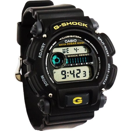 a7c2f3d83c4 Casio - Casio G-Shock Shock Water Resistant Black Digital Watch   Resin  Band DW9052-1B - Walmart.com