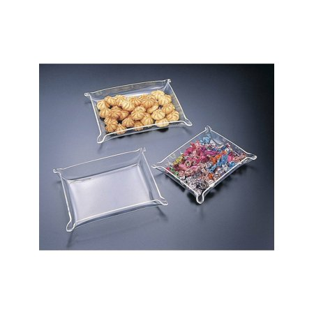 Acrylic Lucite Medium  Tray with Pinched Corners 9X7