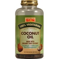 Health From The Sun 100%% Vegetarian Coconut Oil, 180 Ct