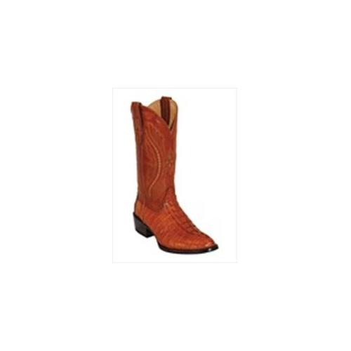 Ferrini 1031102105EE Mens Caiman Tail Round-Toe Cognac Boots 10.5EE by Ferrini