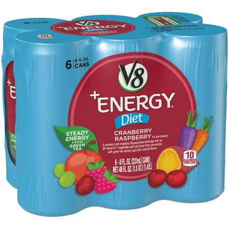 V8  Energy  Diet Cranberry Raspberry  8 Oz   6 Pack