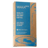 Waka Coffee 100% Columbian Arabica Medium Roast Instant Coffee Packets, 8 ct