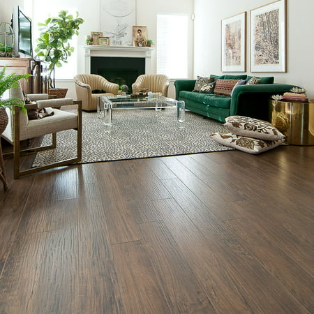 Select Surfaces Mocha Walnut Laminate Flooring, 6 Planks (12.50 sq. ft.)