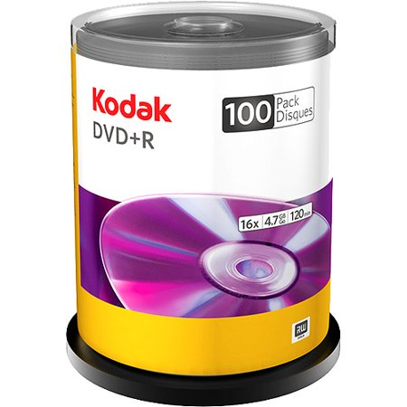 Kodak 100-Pack 16X DVD+R 4.7GB Spindle