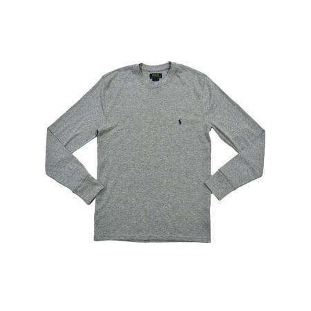 Polo Ralph Lauren Mens Mixed Media Thermal T-shirt (M, Gray) ()