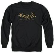 Batman Arkham Knight Ak Flame Logo Mens Crewneck Sweatshirt