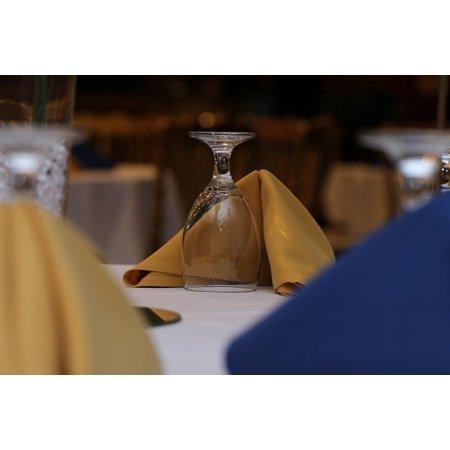 LAMINATED POSTER Glass Napkin Wedding Table Setting Banquet Poster Print 24 x 36 - Wedding Table Setting