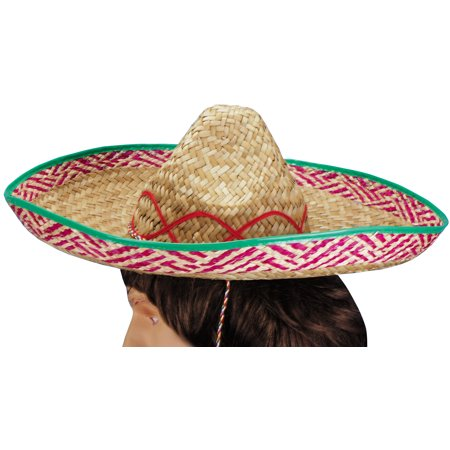 Loftus Mariachi Woven Straw Sombrero Adult Party Hat, Brown, One Size