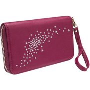 Gresso Llc Constellation Collection Burgundy Clutch - Wallet for Cell Phone - Leather - Burgundy GR11CNS027