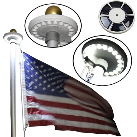 Flagpole Solar Light for Vertical In-Ground Flagpoles by BlueDot Trading®](Flag Pole Kit)