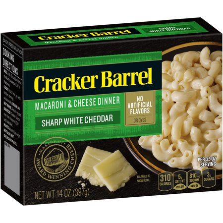 (3 Pack) Cracker Barrel Macaroni & Cheese Dinner Sharp White Cheddar, 14 oz (Shells White Cheddar)