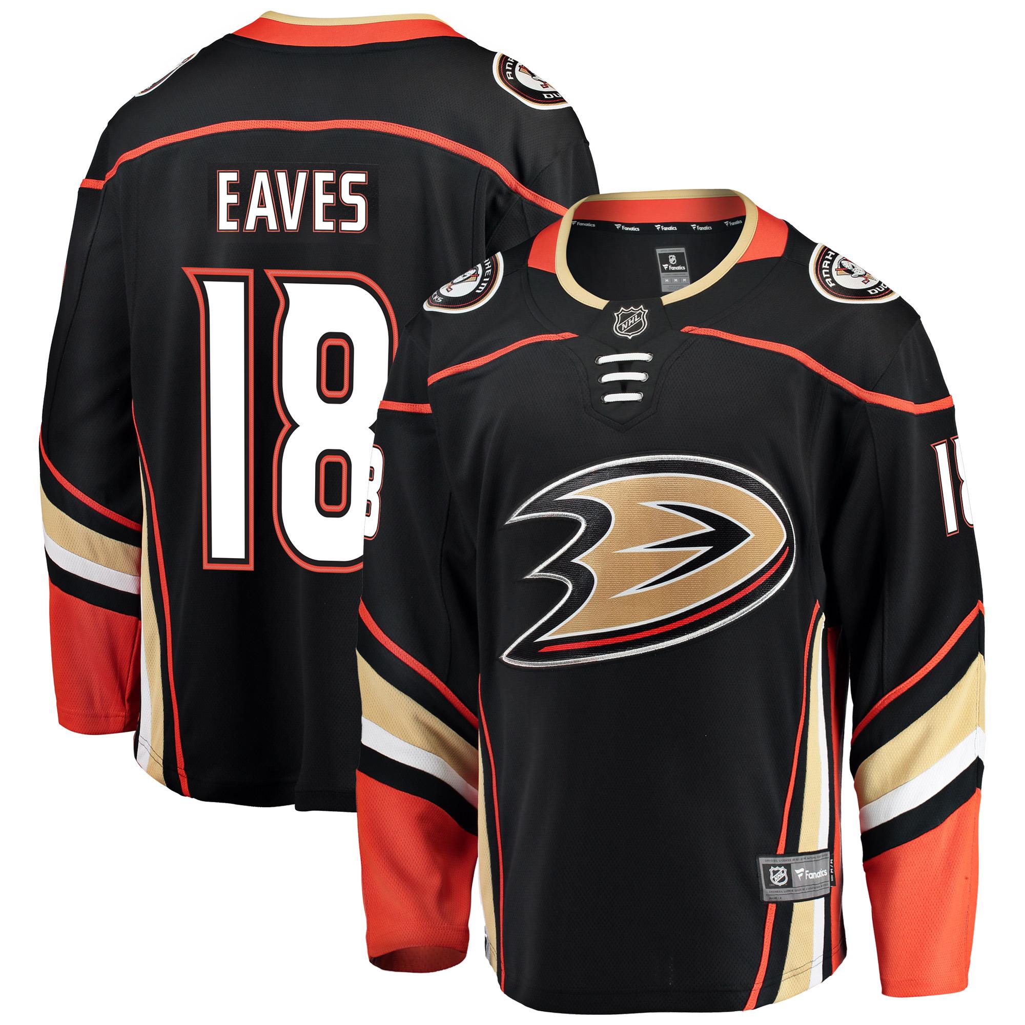 Patrick Eaves Anaheim Ducks Fanatics Branded Breakaway Player Jersey - Black