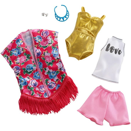 - Barbie Beach Kimono Swimsuit Outfit Fashion Pack with Accessories