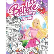 Barbie Coloring Book: Barbie Coloring Book For Girls 4-8 With Exclusive Images (Paperback)