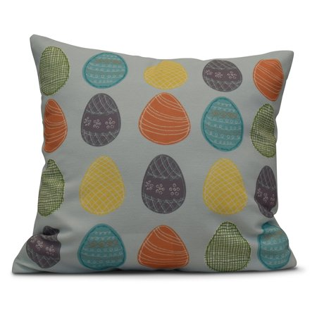Funky Zebra Decorative Pillow (E by Design Funky Junky Eggs-ellent! Decorative Pillow )