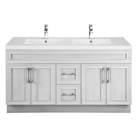 Cutler Kitchen & Bath Classic Transitional 48 in. Double Bathroom Vanity American Fluorescent White Vanity