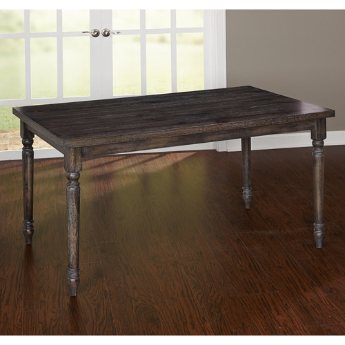 Burntwood Dining Table, Weathered Grey by Overstock
