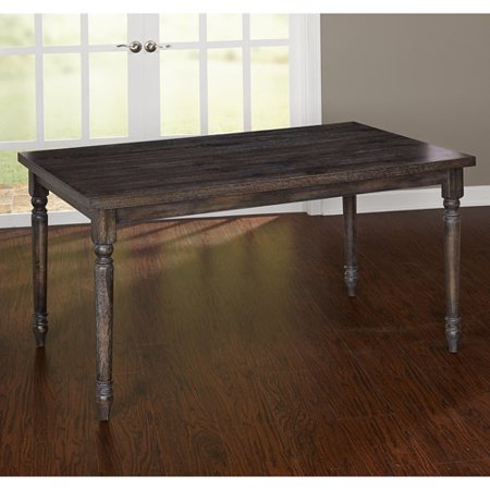 Burntwood Dining Table Weathered Grey Walmartcom - Weathered dining table