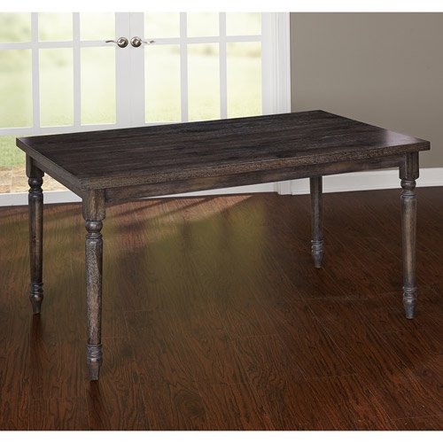 Burntwood Dining Table Weathered Grey Walmart Com Walmart Com