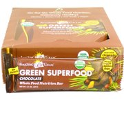 Green Superfood Chocolate Whole Food Bars by Amazing Grass - 12 Bars