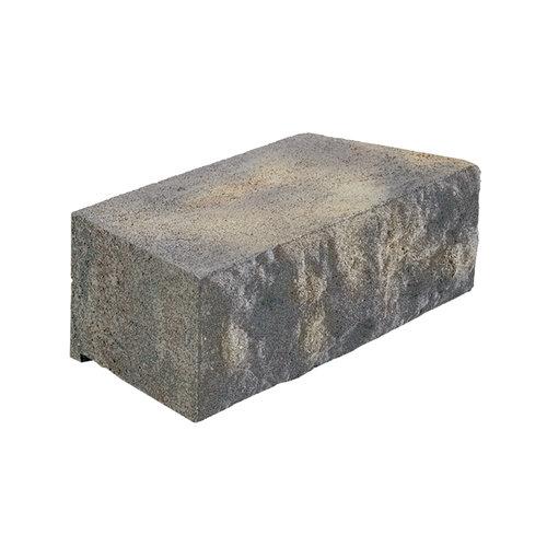 Pavestone Natural Cut Retaining Wall, Charcoal Tan